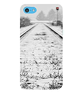 PrintVisa Travel Tracks Snow Design 3D Hard Polycarbonate Designer Back Case Cover for Apple iPod Touch 6