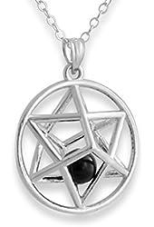 925 Sterling Silver Kabbalah Merkabah 3D Jewish Star Pendant (1)