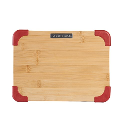 Kitchenaid Badge Logo Cutting Board, Bamboo, 8 By 11 Inch, Red