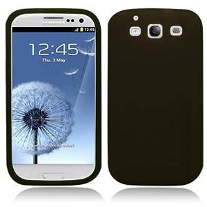 Samsung Galaxy S3 i9300 Premium Black Soft Rubber Skin Silicone Skin Case Cover