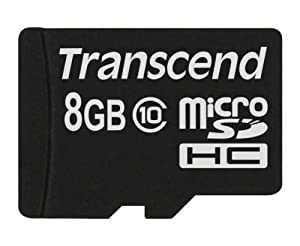 Transcend 8 Go Carte mémoire microSDHC Classe 10 TS8GUSDC10