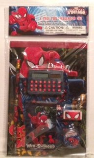 Spiderman 7 Piece Fun Calculator Set - 1