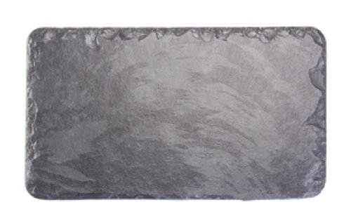 Platos individuales Slate 30 x 17 cm mantel individual Rectangular/plato/tabla de cortar queso, negro
