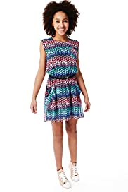 Limited Heart Print Dress with Belt