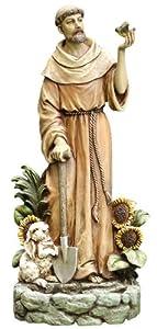 Amazon.com : Napco St. Francis with Bird Statue and