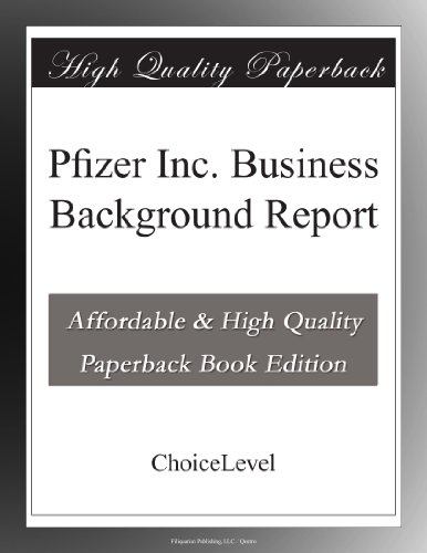 pfizer-inc-business-background-report