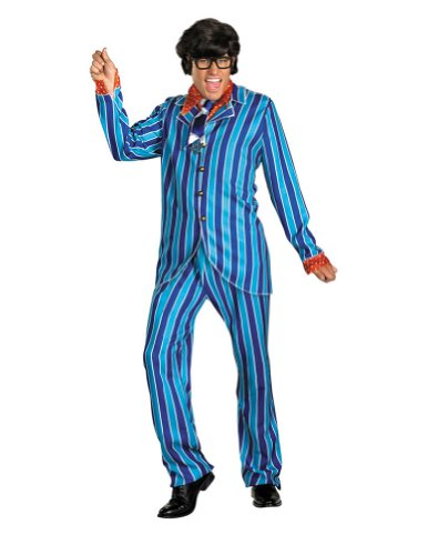 Austin Powers Carnaby Suit Adult Costume 42 Adult Mens Costume