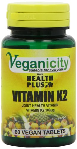 Veganicity Vitamin K2 100µg Bone and Circulation Health Supplement - 60 Tablets