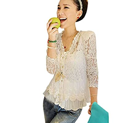 Changeshopping(TM)Summer Women Ladies Fashion Lace Shirts Blouses Tops