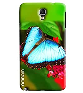 Omnam Butterfly Sitting On Tree Printed Designer Back Cover Case For Samsung Galaxy Note 3 Neo