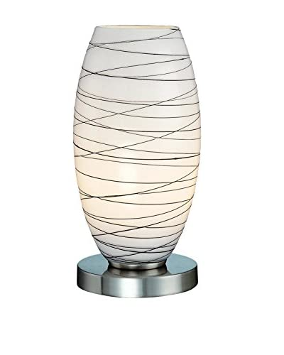 Lite Source Giacomo Table Lamp, Polished Steel/Frosted