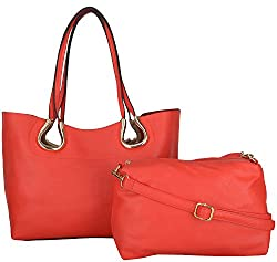 Moda King Women's Handbags (Red) (ModaKing007)