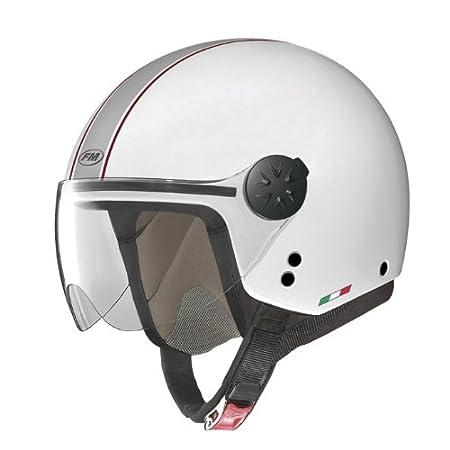 Fm rS21 rS21140L casque jet avec visière (blanc)