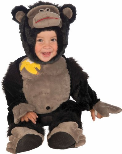 Forum Novelties Baby Boy's Plush Cuddlee Gorilla Costume, Multi, Infant