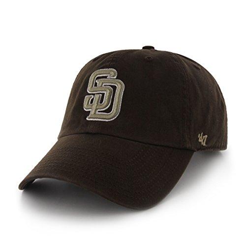san-diego-padres-47-brand-mlb-clean-up-adjustable-hat-brown