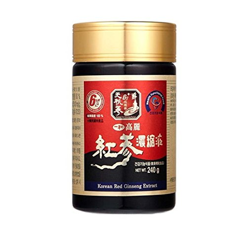 Ilhwa Korean Red Ginseng Concentrated Pure Extract 240G, Il Hwa 6 Years Roots