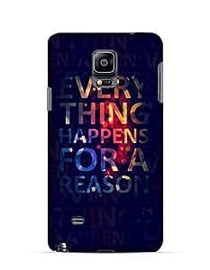 GetASkin Everything Happens back case for A Reason back case for Samsung Note 4