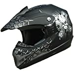 Adult DOT ATV Motocross Helmet 180 Matt black L