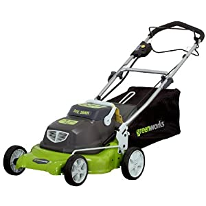 Greenworks 25092 18-Inch 24-Volt Cordless Electric Bag/Mulch Self Propelled Lawn Mower