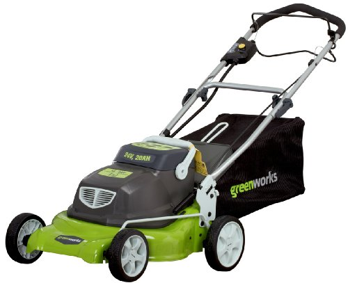 GreenWorks 25092 18-Inch 24-Volt Cordless Self Propelled 2-in-1 Lawn Mower (Discontinued by Manufactuer) image