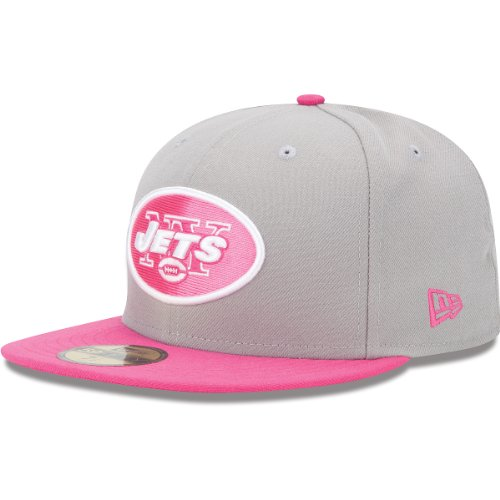 NFL New York Jets Breast Cancer Awarness 59Fifty, Gray/Pink, 7 3/8 at Amazon.com