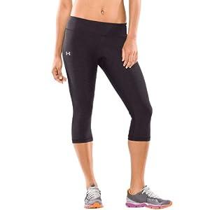 "Under Armour HeatGear 17"" Lunge Capri Pants - Women's Carbon Heather X-Small"
