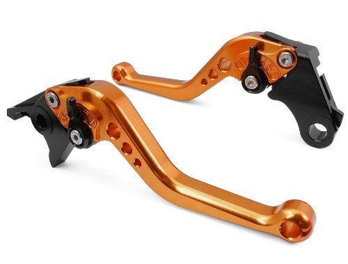 CTG CH-223 Adjustable CNC short Brake and Clutch Levers for YAMAHA YZF R6 1999-2004-Orange (Ch Clutch compare prices)