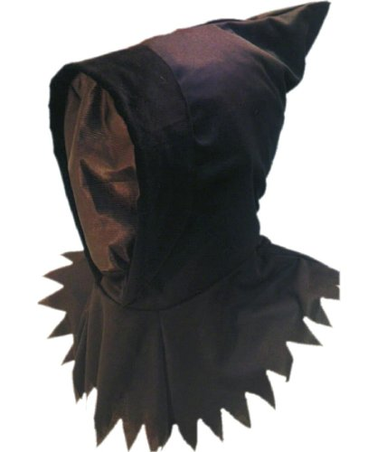 Smiffy's Men's Ghoul Hood Mask See Through, Black, One Size - 1