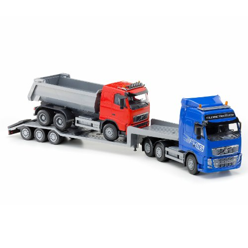 emek-volvo-fh-low-loader-and-dump-truck-blue