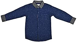 ZEDD Boys' Shirt (E-C ZKS1070C_14, Blue, 14)
