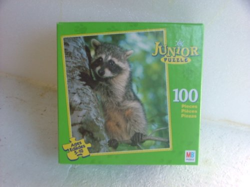 Junior Puzzle. 100 Piece.picture Is of Raccoon. - 1