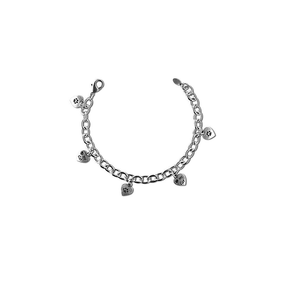 Love My Cat Charm Bracelet Jewelry