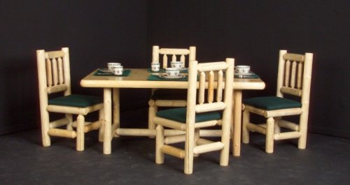 Viking Log Furniture Log Rectangle Dining Table