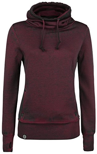 R.E.D. by EMP High Neck Burnout Felpa donna bordeaux XXL