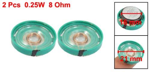 uxcell Round Slim 8 Ohm 0.25W Internal Magnet Speaker Horn 0.83