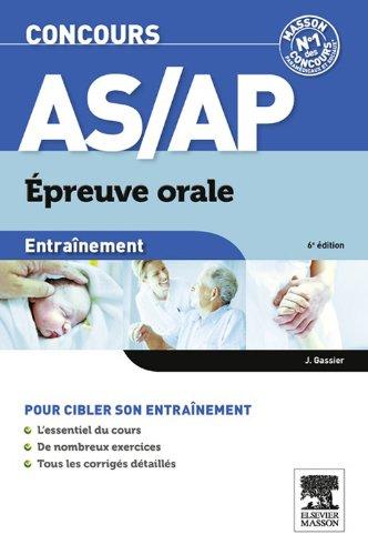 Entraînement Concours AS/AP épreuve orale