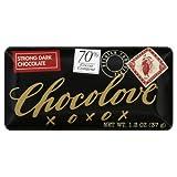 Chocolove Strong Dark Chocolate Mini Bar, 1.3-Ounces (Pack of 12)