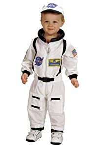 Aeromax Jr. Astronaut Suit with Embroidered Cap, White, size 18Month