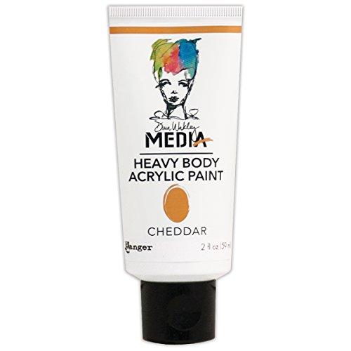 Ranger MDP48800 Dina Wakley Media Heavy Body Acrylic Paint, 2 oz, Cheddar (Dina Wakley Paint compare prices)