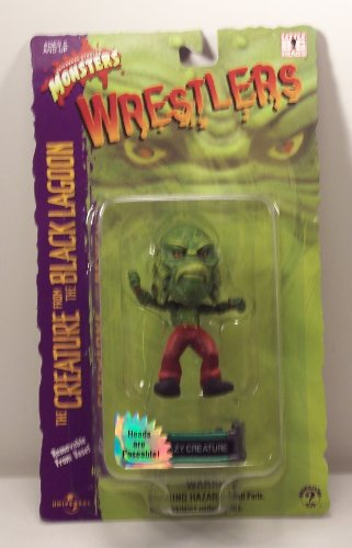 Buy Low Price Sideshow Universal Monsters Wrestlers Crazy Creature Little Big Head Figure (B003ONXSF4)