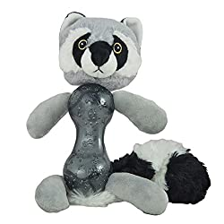 Heads Up For Tails Raccoon Plush Dog Toy