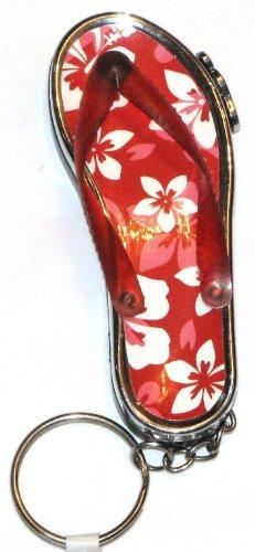 Sandal Shocking Led Flashlight Red Key Chain front-44676