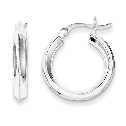 Knife Edge Earrings In Sterling Silver - Post With Hinge - Unisex Adult