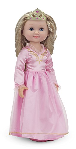 Melissa-Doug-Celeste-14-Inch-Poseable-Princess-Doll-With-Pink-Gown-and-Tiara