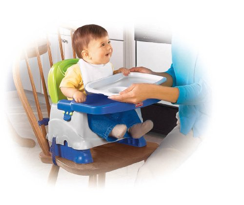 Fisher-Price Healthy Care Deluxe Booster Seat, Blue/Green