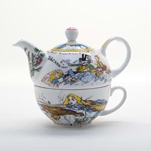 Alice In Wonderland Tea For One Teapot 10oz Cup 16oz Pot Retired Pattern