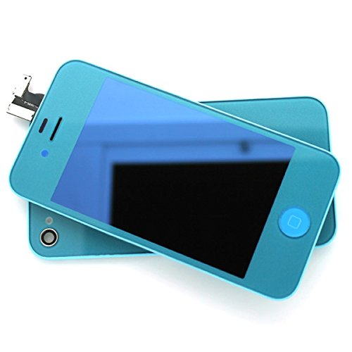 New For Iphone 4 Cdma Verizon Mirror Metallic Half Gold/Full Gold/Silver/Blue/Light Blue/Pink Complete Front Housing Lcds Display+Touch Screen Digitizer Replacement Assembly+Home Button Key+Back Cover Housing Color Conversion Kit Spare Parts, Free Tools,