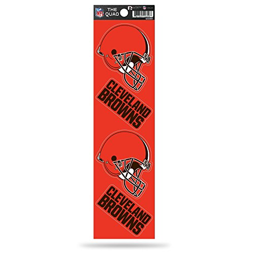 NFL Cleveland Browns Quad Decal (Cleveland Browns Auto Decal compare prices)