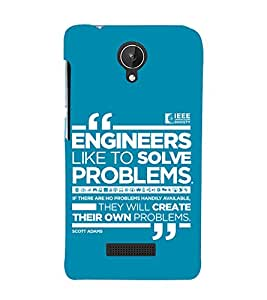 printtech Funny Quotes Back Case Cover for Micromax Canvas Spark Q380