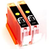 2x Canon Yellow CLI-551 XL FCI Compatible Printer Ink Cartridges To Replace (2x 551Y Yellow) to replace Canon Pixma ip7250, iX6850, MG5450, MG5550, MG5650, MG6450, MG6650, MX725, MX925 printers, double Capacity inks cartridge